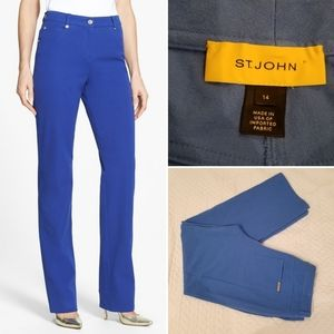 St. John Yellow Label twill straight leg pants
